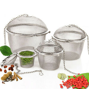 Tea-Ball-Spice-Strainer-Mesh-Infuser-Filter-Stainless-Steel-Herbal-New