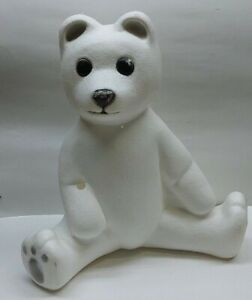 Vintage-Blow-Mold-1988-Union-Products-Christmas-Lighted-White-Polar-Bear-Teddy