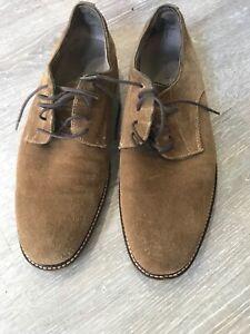 Banana Republic Mens Owen Suede Oxford Dress Shoe Brown Tan Size 9M