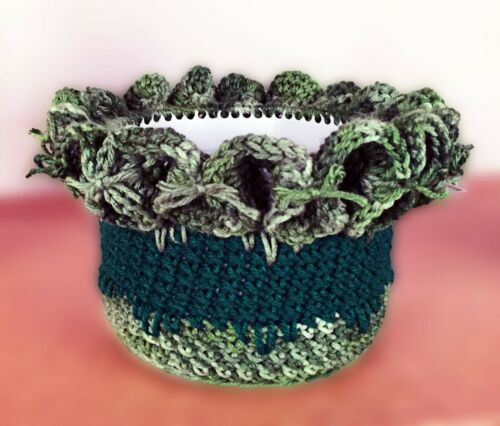 Flower Pot Covers Amish Made NEW!! Hand Crochet Easter Baskets Gift Baskets