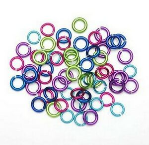034-Smaller-034-Bright-Colors-Aluminum-Chain-Maille-10mm-Jump-Rings
