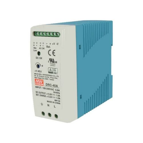 Meanwell DRC-40A 40W 13.8VDC 1.9A Security Type Power Supply 000722