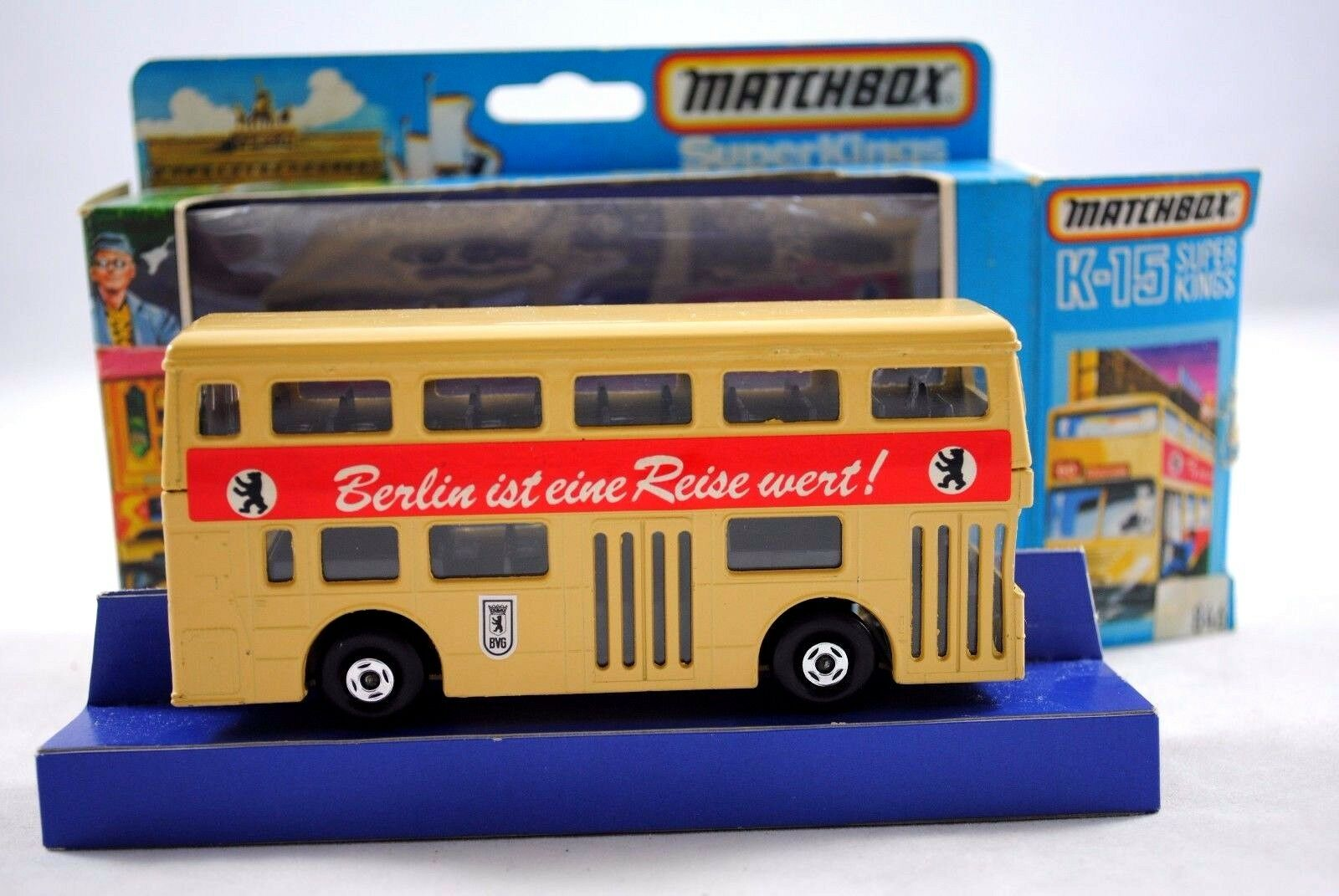 Matchbox SUPERKINGS K-15 LONDON BUS BERLIN ist eine Reise Reise Reise wert German Issue MIB 74d94a