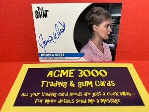 Unstoppable The Saint Series 2 NORMA WEST Receptionist Autograph Card NW1 BLUE