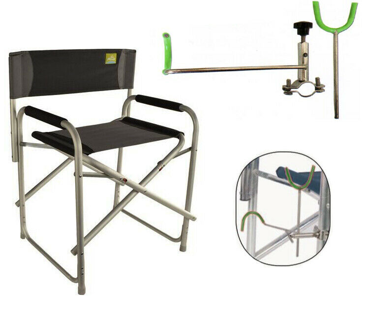 KP3715 Peach Director Chair + caña de pesCoche de acero inoxidable lacustre del rí