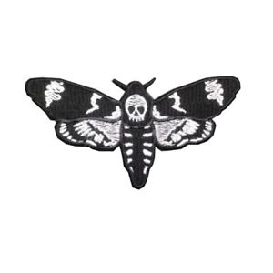 Death Head Moth Iron On Patch Silence Of The Lambs Skull ...