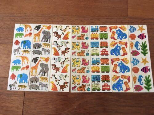 Hambly Sparkle Lot Stickers Zoo Giraffe Cats Dogs Train Sea Cowboy Animal