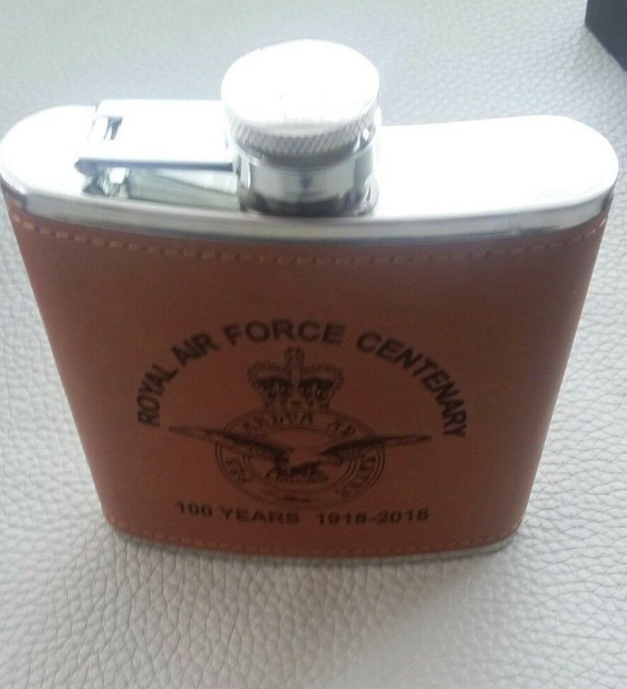 Other Militaria Air Force RAF CENTENARY STAINLESS STEEL ENGRAVED 6oz