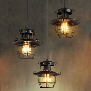 Vintage-Industrial-Retro-Loft-Glass-Iron-Ceiling-Wall-Lamp-Shade-Pendant-Light