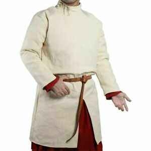 New Padded Crem&Black Tunic New Medieval Theater Costume