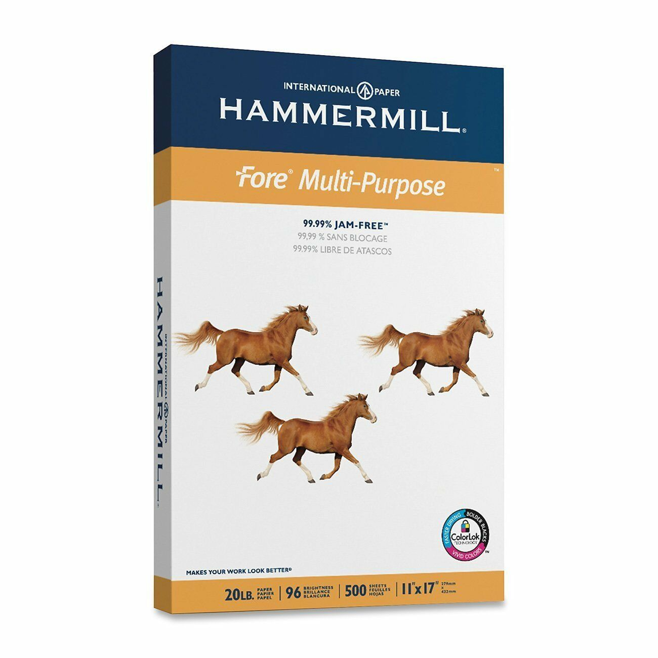Hammermill Paper, Fore MP, 20lb, 11 x 17, Ledger, 96 Bright, 500 Sheets   1 Ream