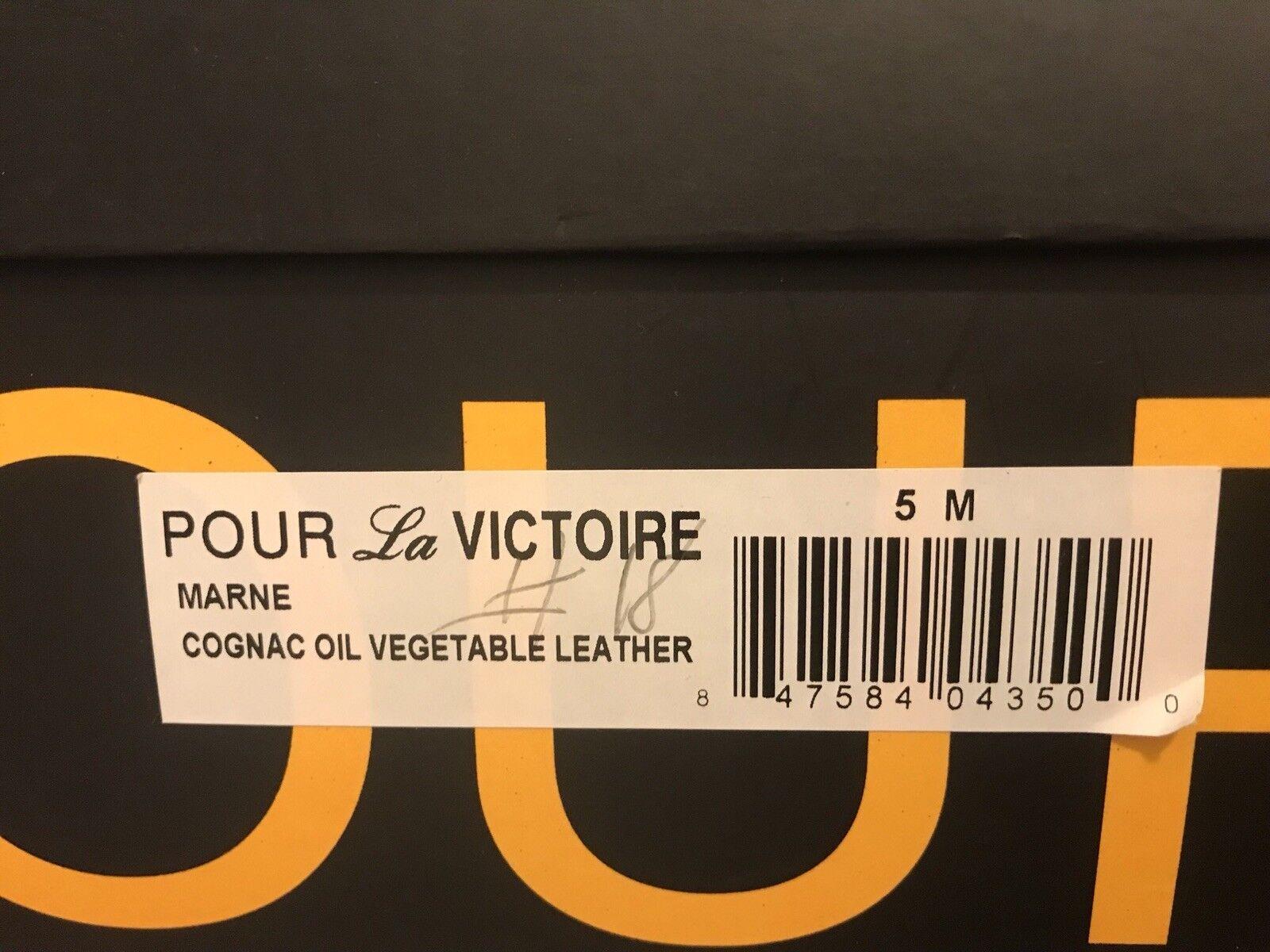 Pour La Victoire - - - Marne- Cognac Oil Veg Leather Riding Stiefel -NIB - Sz 5 32414c