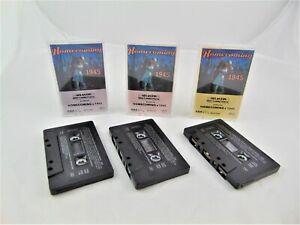 Homecoming-1945-Cassette-Tapes-Set-of-3-World-War-II-Hits-Big-Band-Swing-Jazz