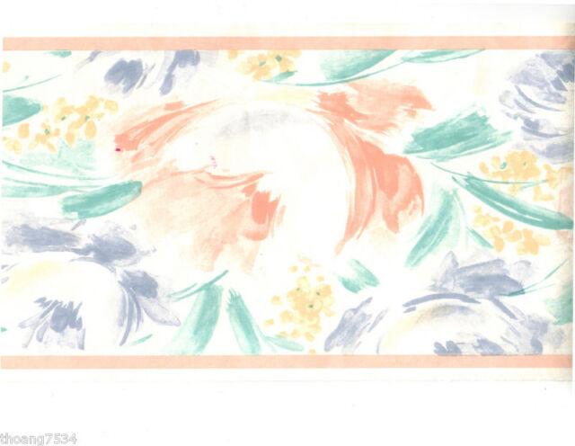 Rainbow Tie Dye Wallpaper Border Wall Art Decals Abstract Teen Girl Room Decor For Sale Online Ebay