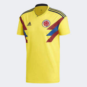 4b81dcb2107 Image is loading ADIDAS-COLOMBIA-HOME-JERSEY-WORLD-CUP-2018