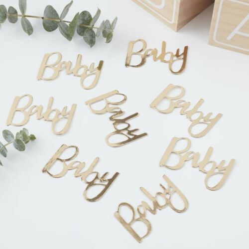 Rose Gold Baby Shower Table Confetti Scatter Sprinkles  Gender Reveal Unisex