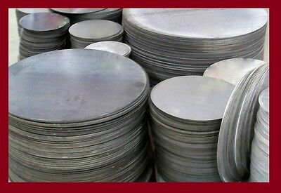 """1/4"""" .250 THICK SS304 STAINLESS STEEL PLATE 5"""" DIAMETER DISC * CIRCLE"""