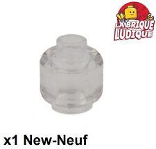 Lego - 1x minifig tête head Blocked Open Stud transparent/trans clear 3626b NEUF