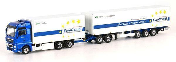 WSI 1 50 échelle MAN TGX XXL Euro Combi camion et remorque Modèle   BN   04-1076