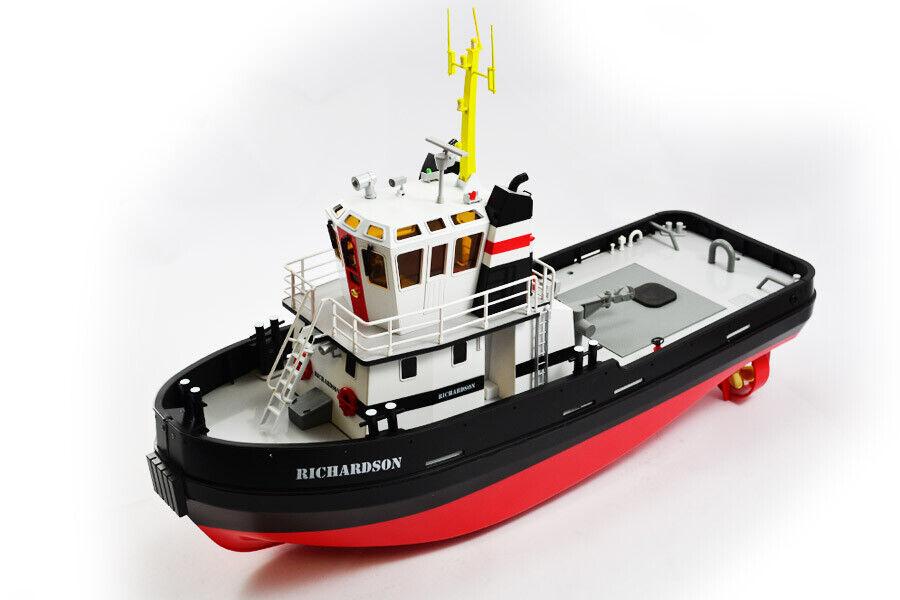 Hobby Engine Richardson Remolcador Barco Escala 1 36 con luces de trabajo de humo y 2.4GHz