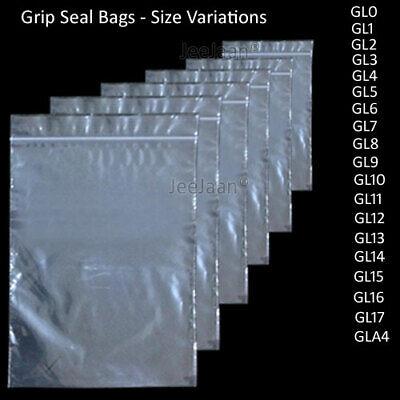 """10000 Small GL0 1.5/"""" x 2.5/"""" Clear Grip Self Press Seal Zip Lock Plastic Bags"""