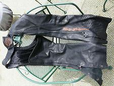 Harley Davidson Black Leather Chaps Size XL RN103819 CA 03402 . 97016-10VW K7683