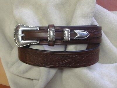 Brass or Stainless Buckle Hand Made English Bridle Leather Belt