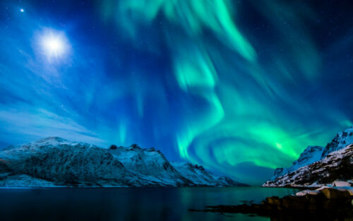 Aurora Borealis Islande Norvège Pole photo Encadrée Imprimer-the Northern Lights
