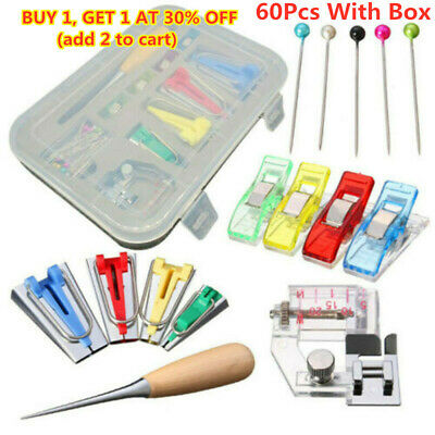 AWL Kit Binder Tool For Sewing /& Quilting Sewing/_ 60Pcs Fabric Bias Tape Maker