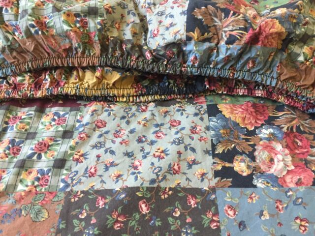NO FADE  ~ Vintage Ralph Lauren Darby Patchwork ~ Fitted Sheet ~ DOESKIN