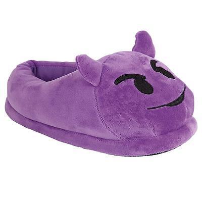 Señoras emoji Peluche Peluche Pantuflas Zapatos para mujeres y chicas Fluffy Térmico Cálido Botas