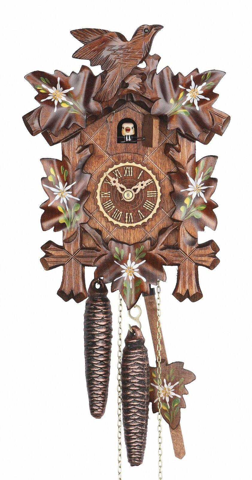 8-Tag Kuckucksuhr Schwarzwalduhr 1x Uhrenkette vermessingt mit Öse und Haken f