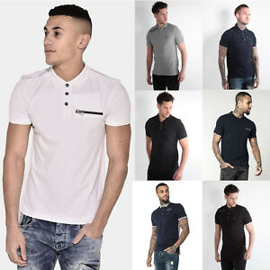 883-Police-Mens-Collared-Designer-Jersey-Pique-New-S-S-Polo-Shirt-T-Shirt-Tee