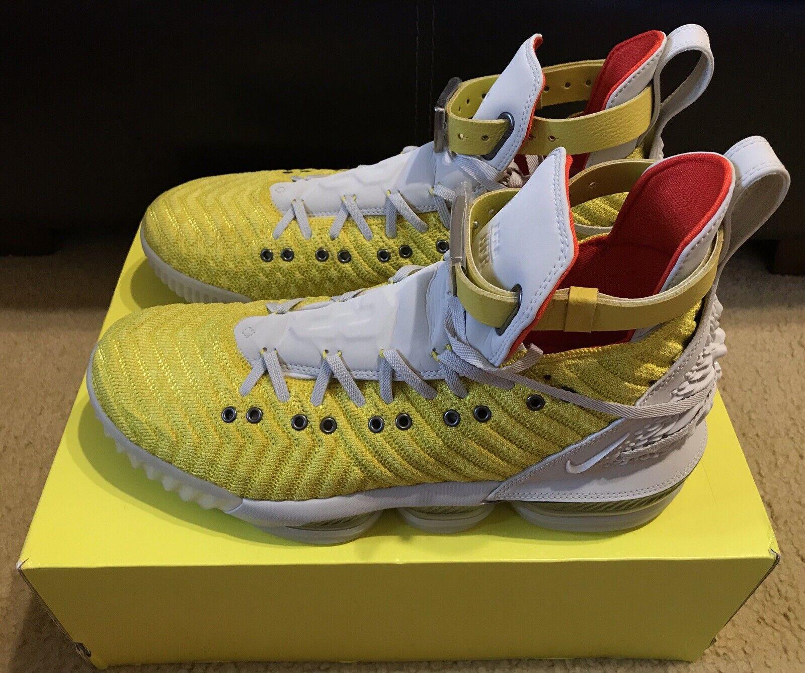 Nike Lebron XVI 16 Harlem fashion rangée HFR Bright Citron CI1145-700 Taille 12.5