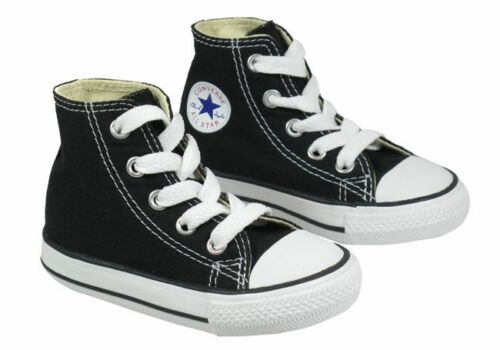 Converse All Star Hi Top Black White Infant Toddler Boys Girls Shoes Sizes