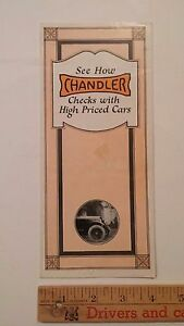 1920-CHANDLER-Part-Color-Dealer-Sales-Folder-Brochure-Good-US