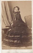 Photo cdv :  Disderi ; L'Impératrice Eugènie debout en pose , vers 1860