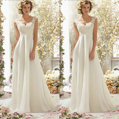 White Prom Lace Mermaid Tulle Appliques Long Evening Party Gown Wedding Dress