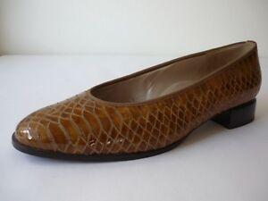 En Cuir Escarpins 43 Chaussures Femmes 9 Verni Marron Neuf Hassia PHgXqwY