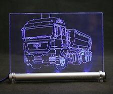 Kipper LKW Gravur auf LED-Schild  MAN TRUCK  tgx
