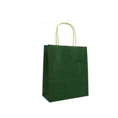 5 Party Paper Carrier Bags with Twisted Paper Handles - Size: 20 x 18 x 8