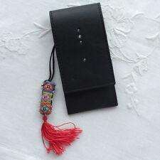 DOVO Leather Scissor Pocket - Black w/Swarovski Crystals
