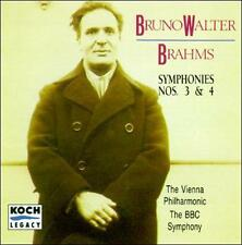 Symphonies 3 & 4 by Johannes Brahms, Bruno Walter, BBC Symphony Orchestra, Vien