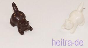 LEGO-2-x-Katze-weiss-und-dunkelbraun-hockend-Cat-Crouching-6251-NEUWARE