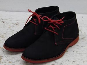 innovative design b1bff c3af4 Details about Mens Donald J Pliner black felt boots red laces red soles  size 8 EUC!