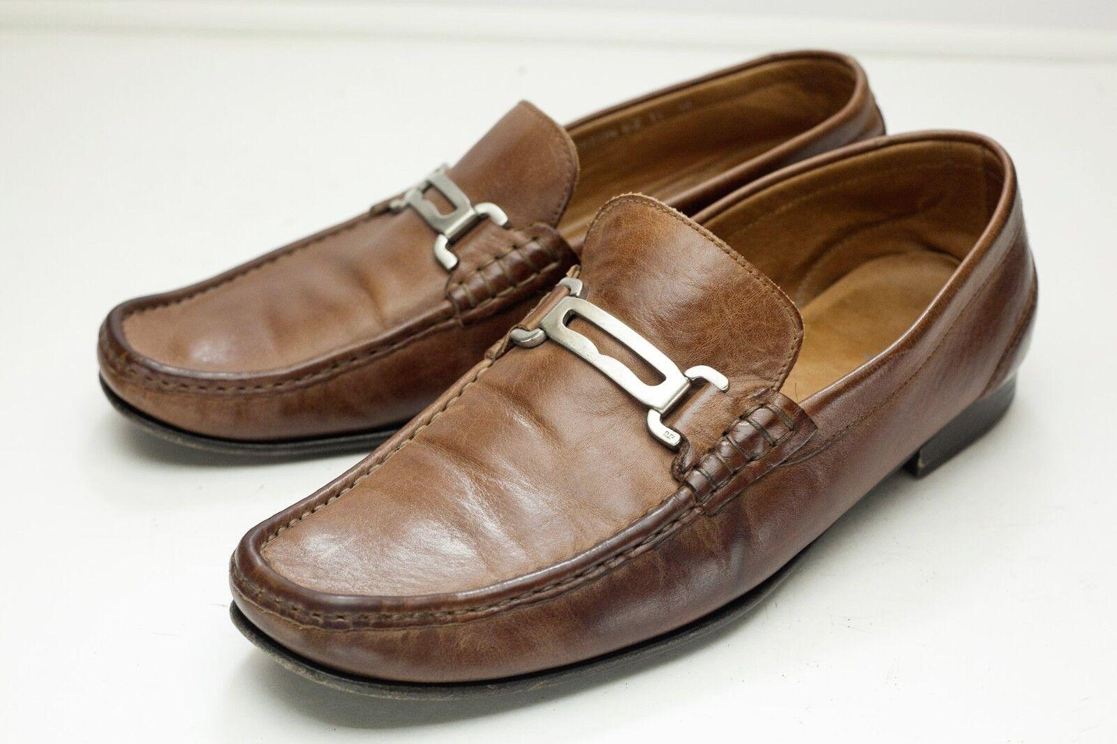 Donald J Pliner 11 Brown Loafers Men's