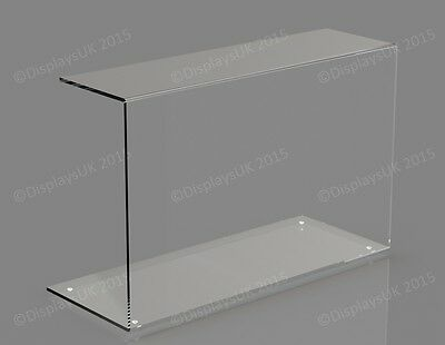 5MM THICK CLEAR ACRYLIC SNEEZE SCREEN FOOD GUARD CAKE DISPLAY SCREEN 500MM LONG