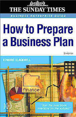 How to Prepare a Business Plan (Business Success), Blackwell, Edward, Very Good