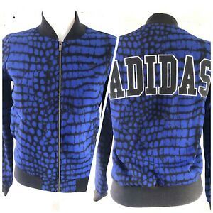 Adidas-Originals-Track-Top-Size-6-XS-Blue-Jacket-Long-Sleeve-Spell-out