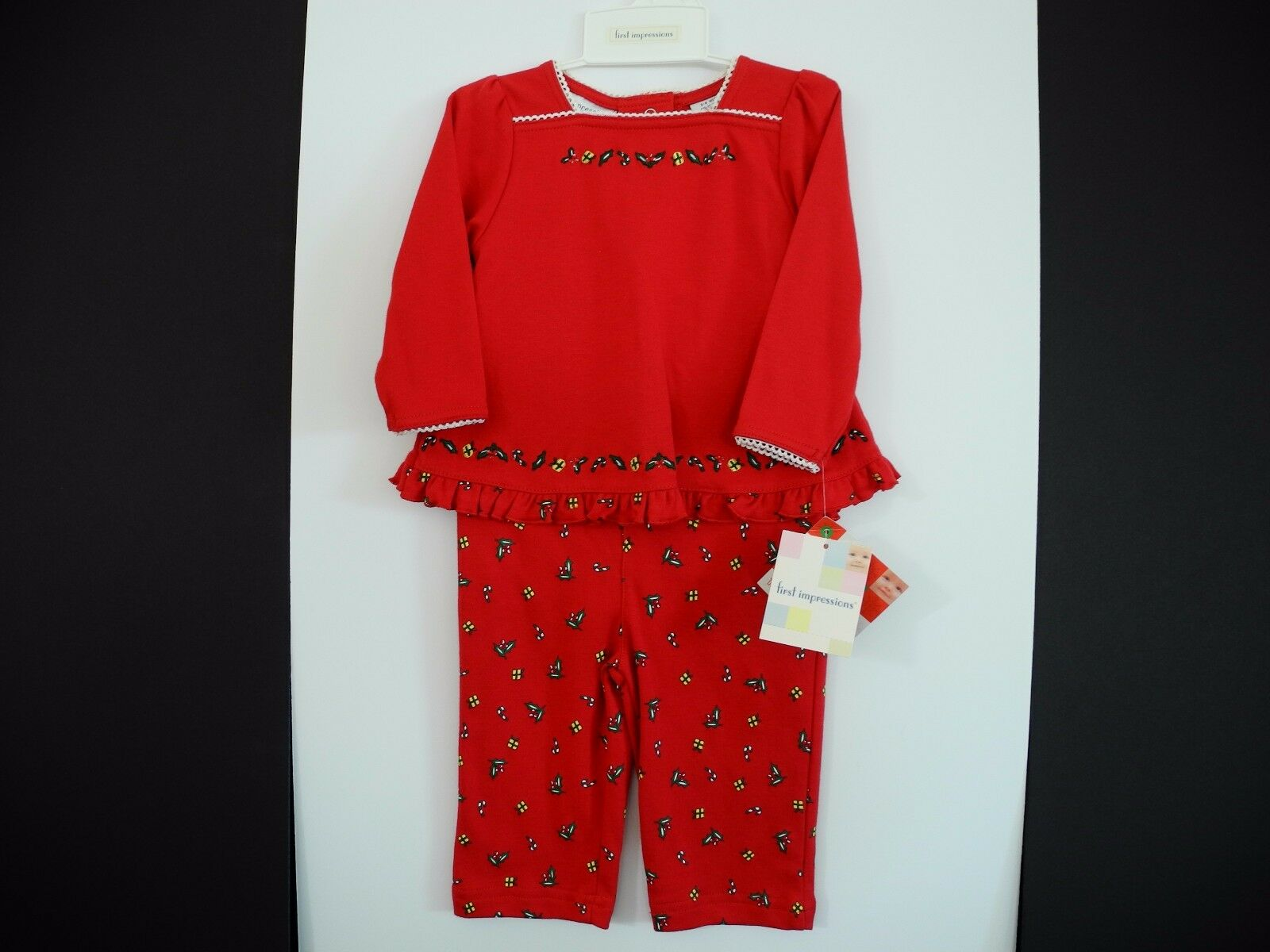 892df5bde5a1c First Impressions Christmas Baby Girl 2 Pc. Red Tunic & Leggings Set 3- 6  Months | eBay